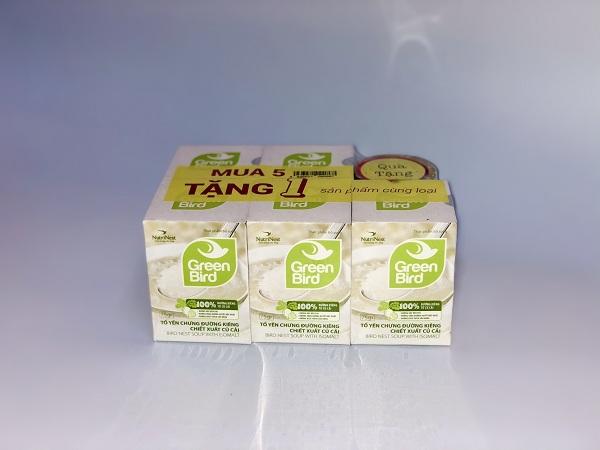 Nước Yến Sào Hải Phòng - Green Bird chưng đường ăn kiêng chiết xuất củ cải - Mua 5 tặng 1